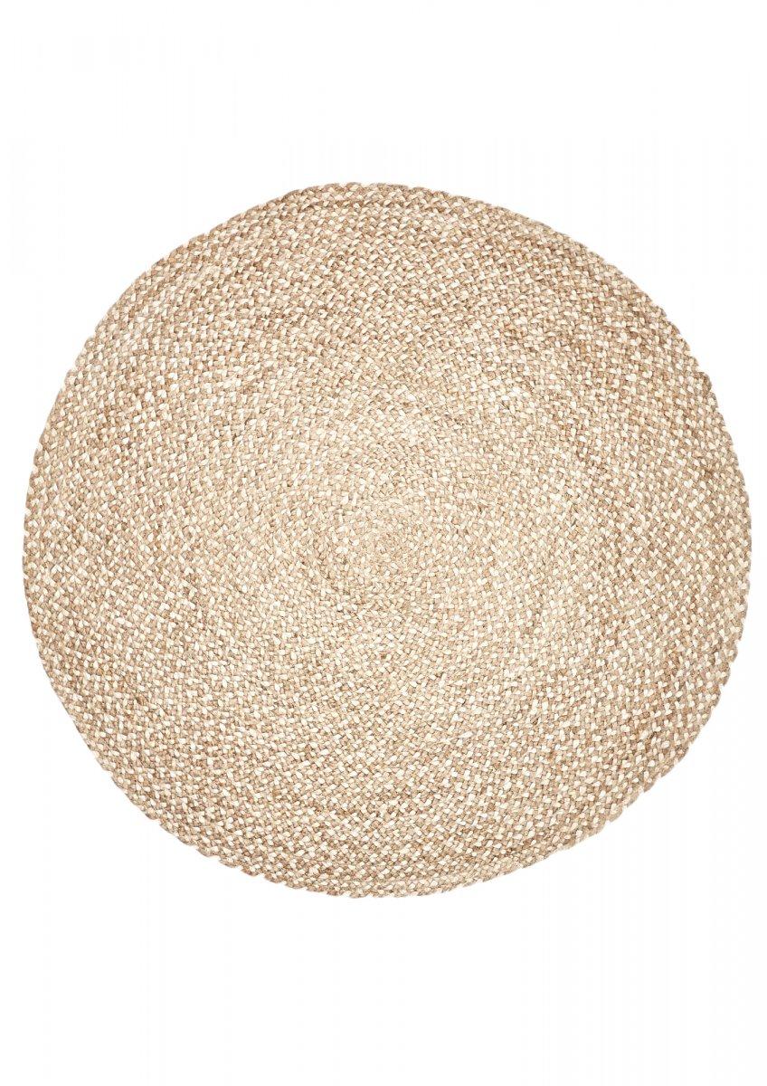Natural-Grey Jute round rug