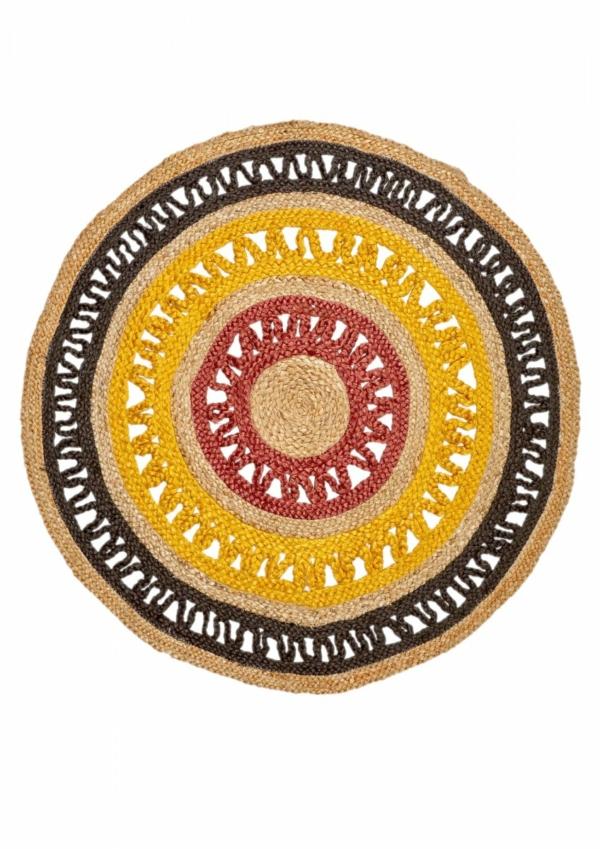 Multi Jute round rug