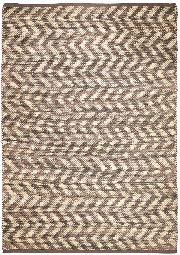Natural-Dark Chocolate Jute rug