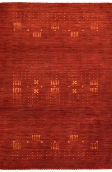 Rust (Orange) modern wool rug