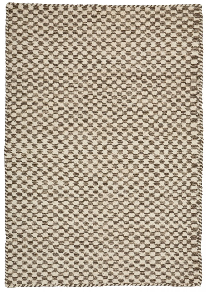 Brown modern wool rug