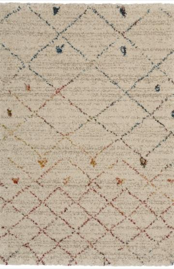 Ivory modern rug