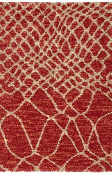 Red modern rug