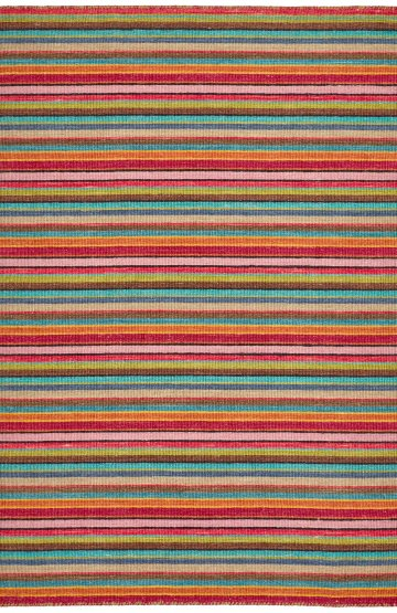 Multi colour modern wool rug