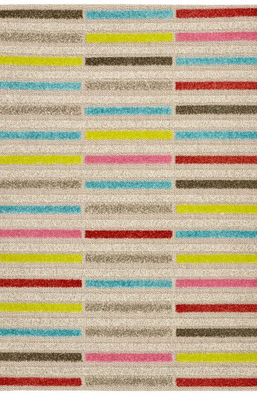 Colourful modern rug