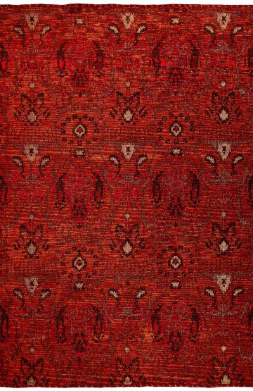 Red traditional rug