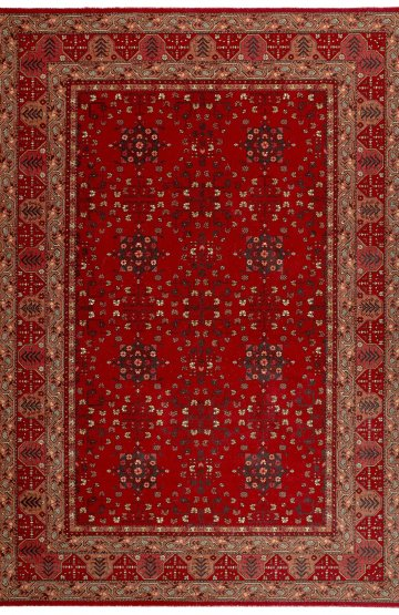 Afghan Red Traditional wool rug