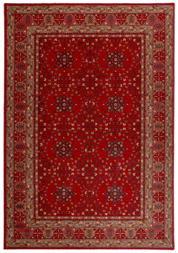 Afghan Red Traditional wool rug