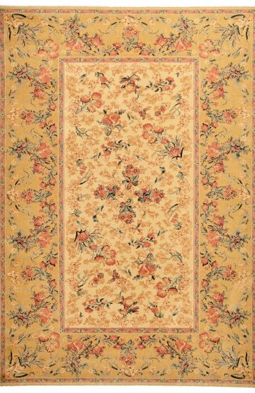 Caramel traditional wool rug