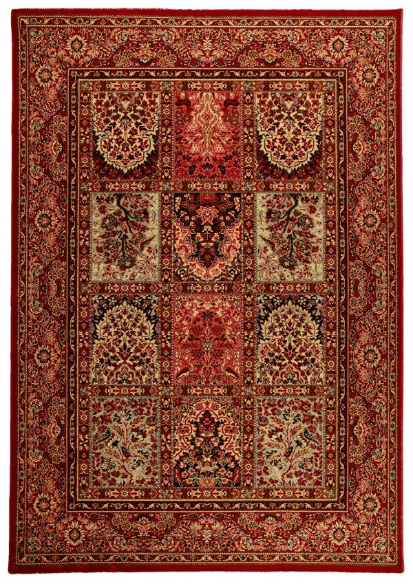 Red Traditional wool rug