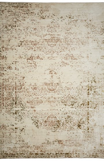 Beige-gold transitional rug