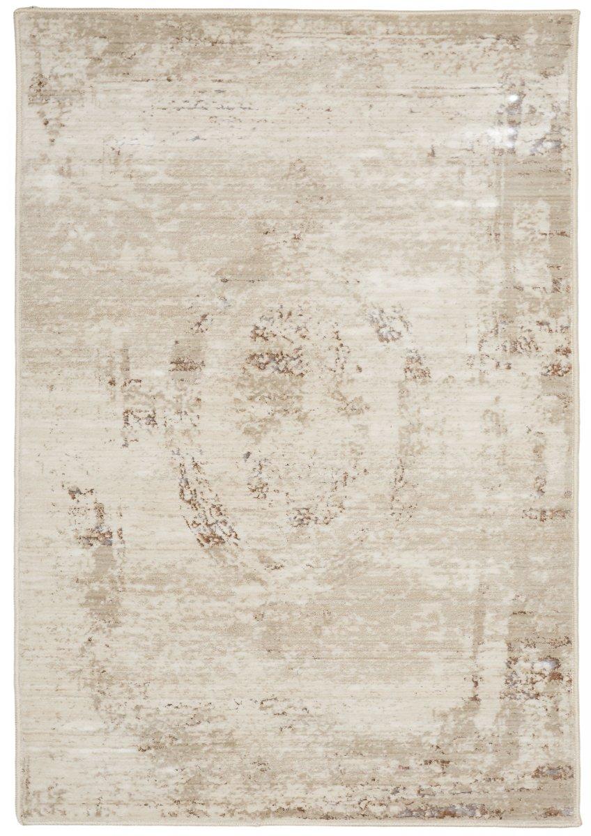 Beige-Ivory transitional rug