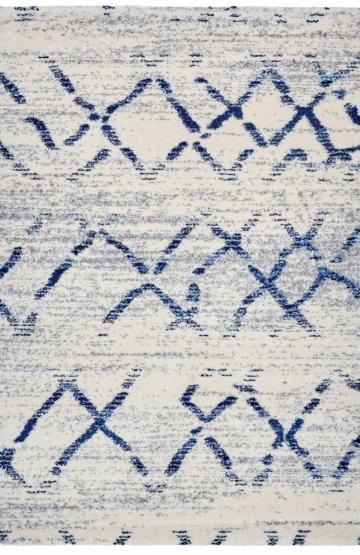 Beige-Blue modern rug