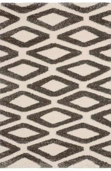 Ivory-Black modern rug