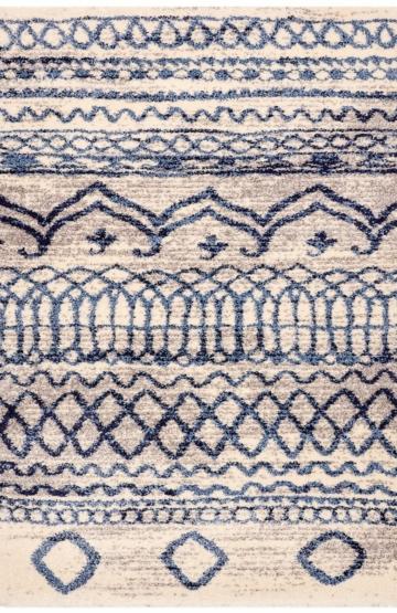 Ivory-Blue modern rug
