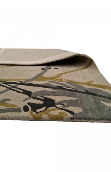 Tropical pattern Rug. Polo 888 Grey